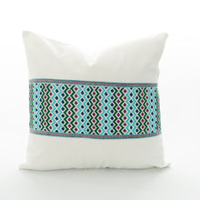 Load image into Gallery viewer, aqua pillow cover