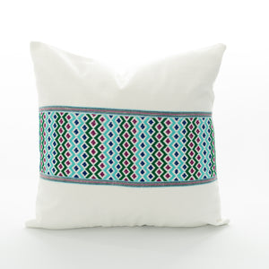 aqua pillow cover