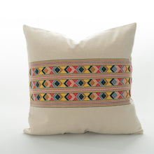 Load image into Gallery viewer, mayan pillow made from guatemalan textiles