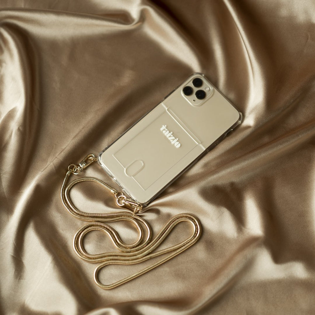 Lovelux Phone Sling With Card Slot and Gold Chain