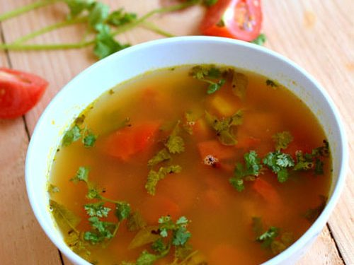 organic pepper-rasam soup