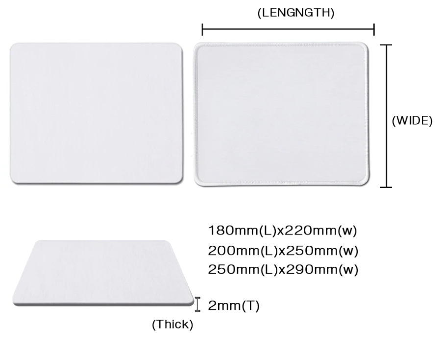 mouse pad size
