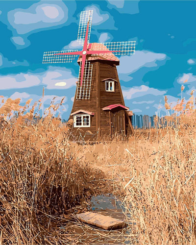 Wheat Field Windmill