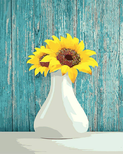 Shabby Chic Sunflowers