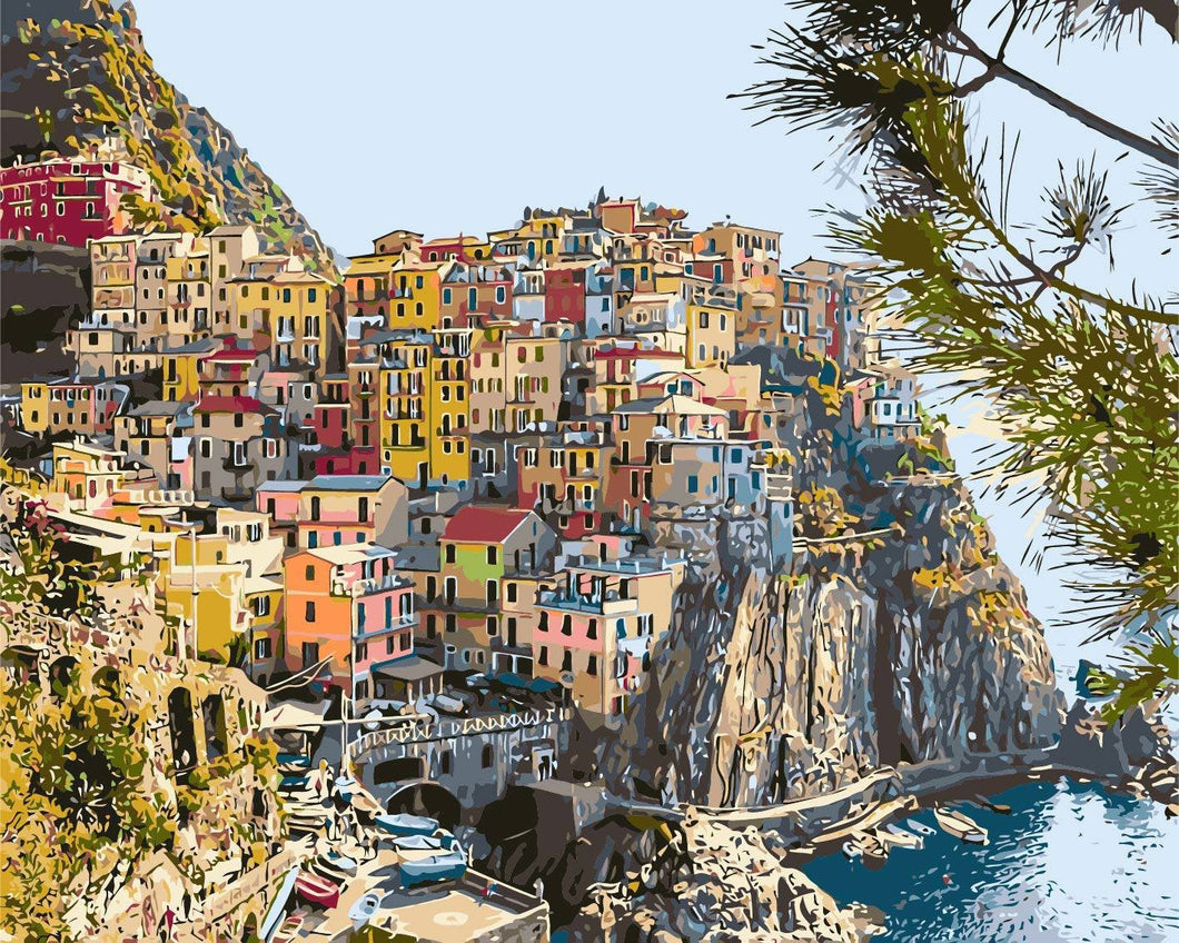 Italian Seaside Village
