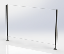 Load image into Gallery viewer, Counter Top Covid-19 Barrier with Metal Arms