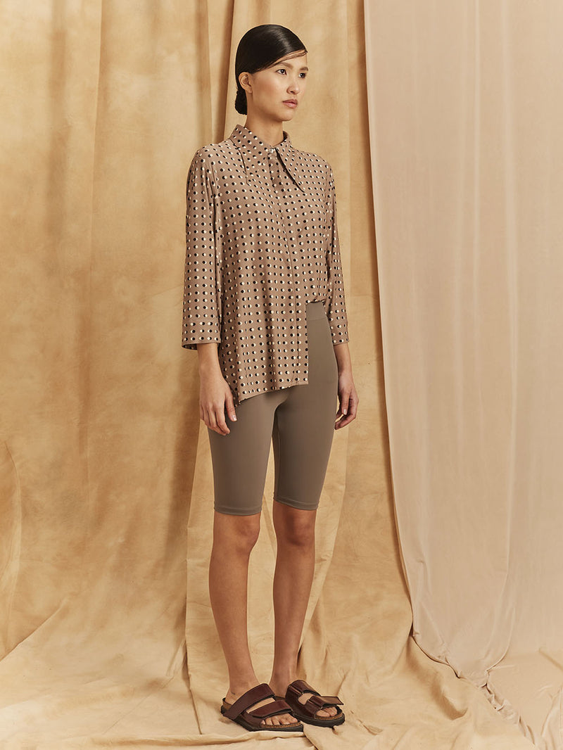 "CASUAL BLOUSE  / PRINT ""DOTS"""