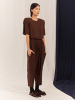 LOW CROTCH PANTS / BROWN