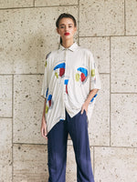 OVERSIZED BLOUSE - COLOR FACES PRINT