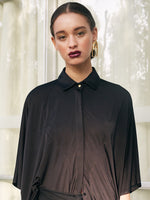 OVERZISED BLOUSE - BLACK