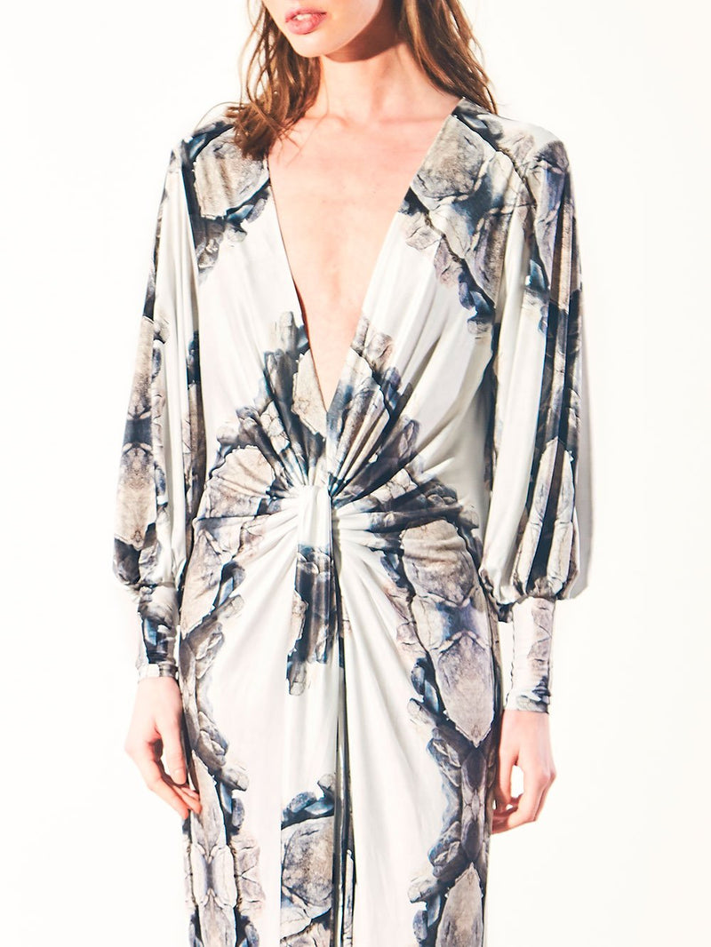 WRAP DRESS - ROCKS