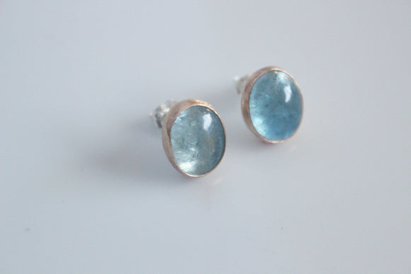 Aquamarine in Gold Fill Earrings