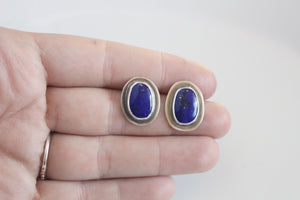Lapis Lazuli with Border Earrings