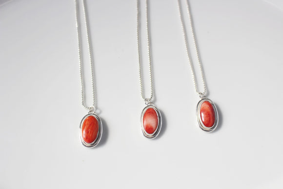 Coral Trio Galentines Necklaces