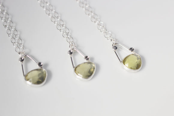 Yellow Quartz Galentine's Day Trio Necklaces