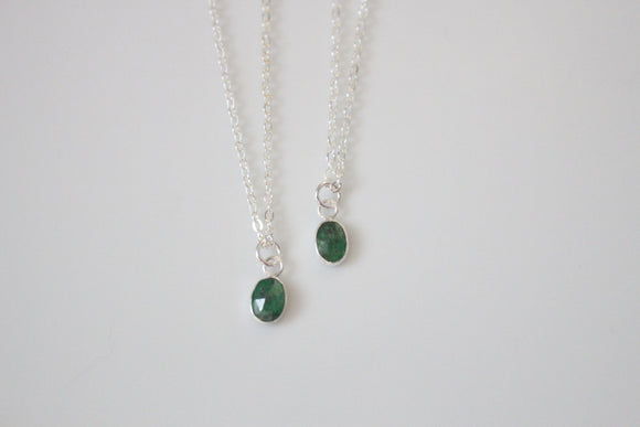 Tsavorite Garnet Galentine's Day Necklace Set