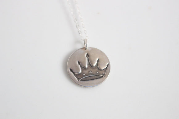 Zeta Tau Alpha Crown Necklace in Silver / ZTA Sorority Jewelry // Crown Necklace / Senior Gift / Initiation Gift