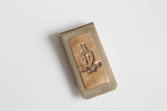 Sigma Chi Crest Money Clip / Fraternity Money Clip / Sigma Chi Crest  /  Sigma Chi Merchandise / Greek Licensed / Sig Gift / Sig Crest
