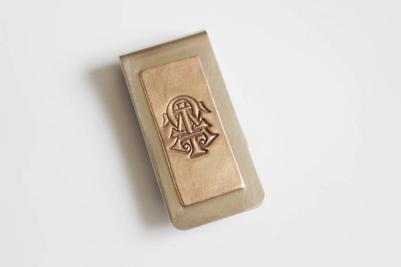 Alpha Tau Omega Fraternity Money Clip / ATO Money Clip / Bronze Money Holder  ATO Links /  Alpha Tau Omega / Greek Licensed