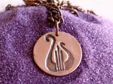 Lyre Copper Necklace - Alpha Chi Omega