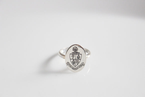 Delta Delta Delta Crest Ring / Tri Delta Crest Ring / Initiation Gift / Sorority Crest Ring
