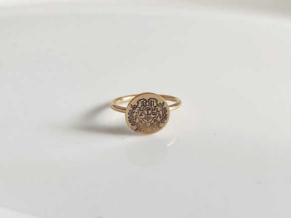 Chi Omega Crest Ring Gold / Sorority Ring / Chi Omega Sorority / Chi O Ring / Gold Fill Ring