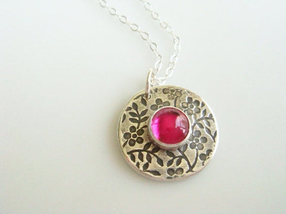 Ruby Necklace / July Birthstone Jewelry / Ruby Bridesmaids Gift /