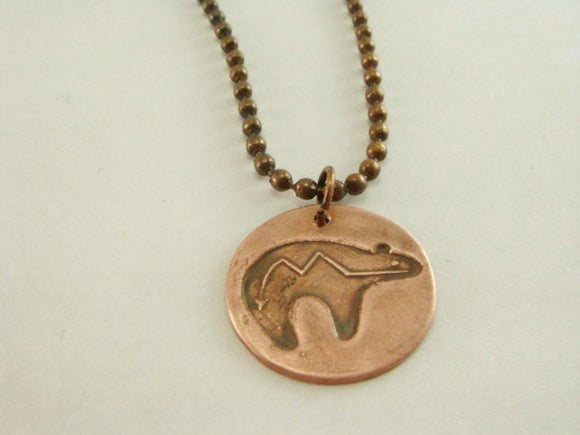 Copper Fetish Bear Necklace