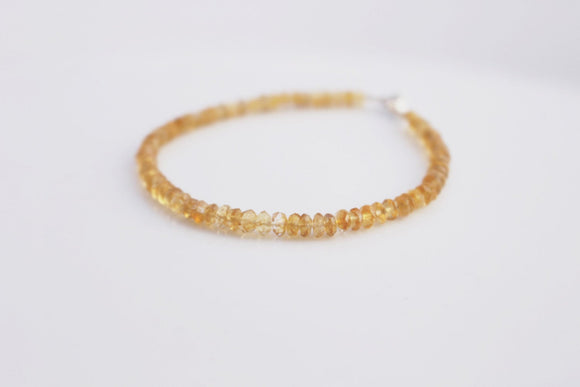 Citrine Bracelet Faceted Citrine Gemstone  Bracelet
