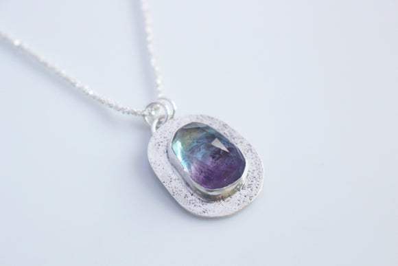 HAPPINESS - Fluorite Amulet Necklace