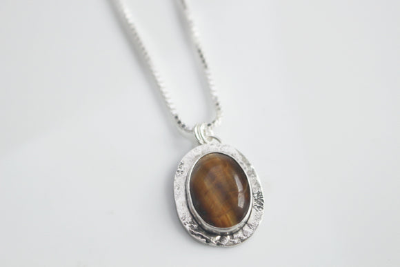 PERCEPTION - Tiger Eye Amulet Necklace