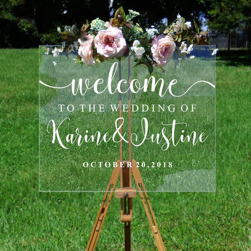 Wedding Welcome Mirror Vinyl Sticker