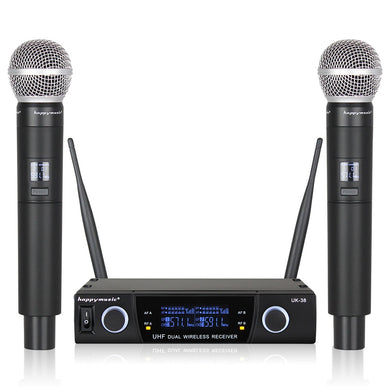 Professional Dual Wireless Microphone System