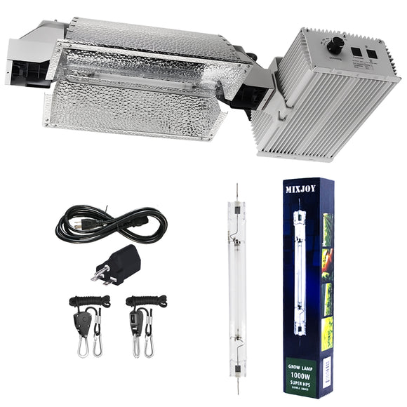 HPS 1000W Grow Lights System Kits, with 120-240V Digital Dimmable Ballast and HPS-DE 1000Watt Super Bulb