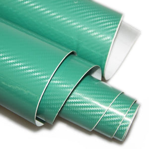 1.52x0.5Meter 5D carbon fiber vinyl film car wrap film 5D carbon fiber car sticker free shipping - Green