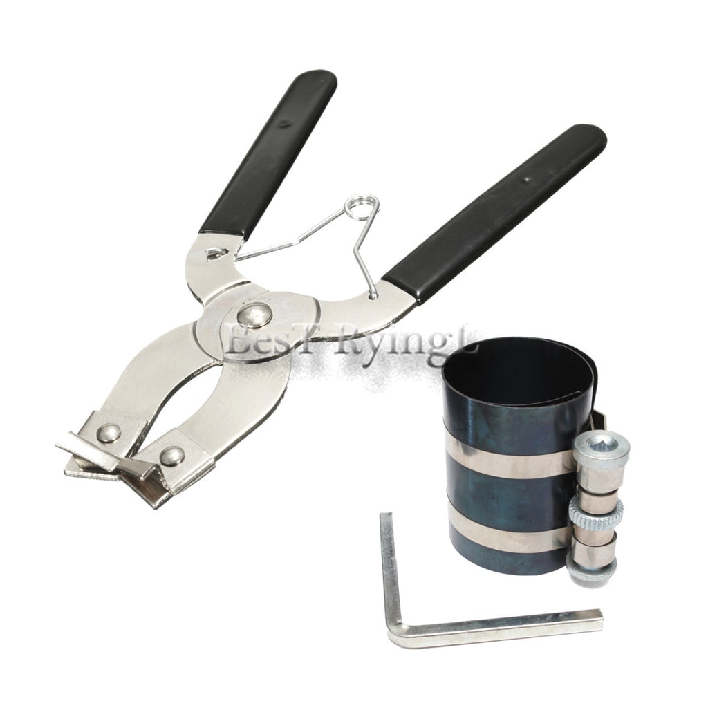 * 1 Set Piston Ring Compressor Installer Ratchet Plier Remover Expander Engine Pull Tool