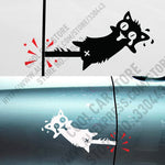 10 Pairs High Quality Vinyl Reflective Funny Cat Car stickers and Decals Car Styling For All Cars