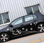 180cm Car Sticker Styling Butterflies Music Score Notes Decal Whole Body Vinyl Decor Car Body Covers Auto Accessories - White