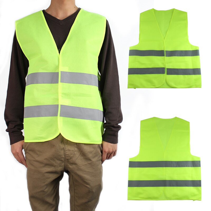 2pcs Safety Vest Clothing Traffic Motorcycle Night Rider GREEN-Yellow Reflective vest Cycling Outdoor Sports