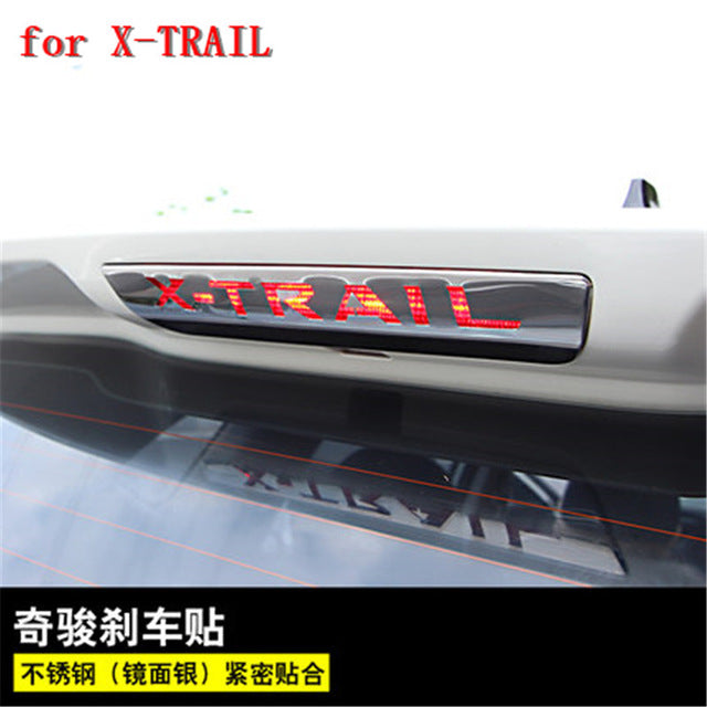 304 stainless steel high brake lamp decoration patch For NISSAN X-TRAIL T32 XTRAIL 2014- 2018 Car styling