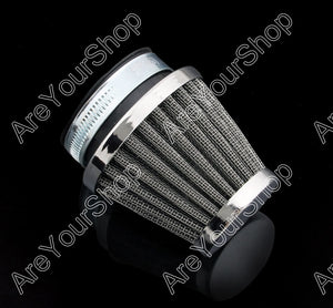 Areyourshop  Universal Motorcycle Air Filter 50mm Motorbike  Air Intake With Clamp For Honda For Kawasaki For Suzuki For Yamaha