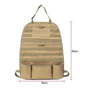 Auto Car Seat Back Organizer Storage bag Molle Vehicle Panel Pouch bag Cover Multi Poket Brown Car Styling - Brown