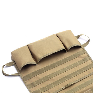 Auto Car Seat Back Organizer Storage bag Molle Vehicle Panel Pouch bag Cover Multi Poket Brown Car Styling