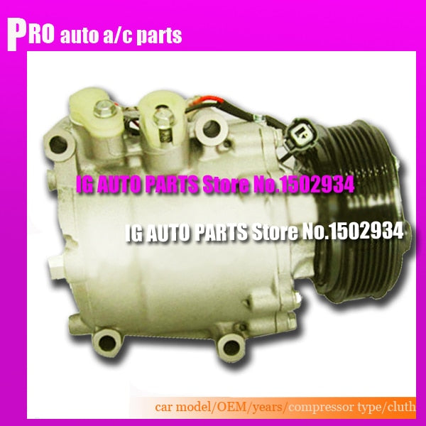 Auto ac compressor For Car Honda Civic Accord 1996-2006 -Pde-e01-pde-e010 38800-PLC-006 pla-e020 -Plm-a01-pla-e01 Plc-