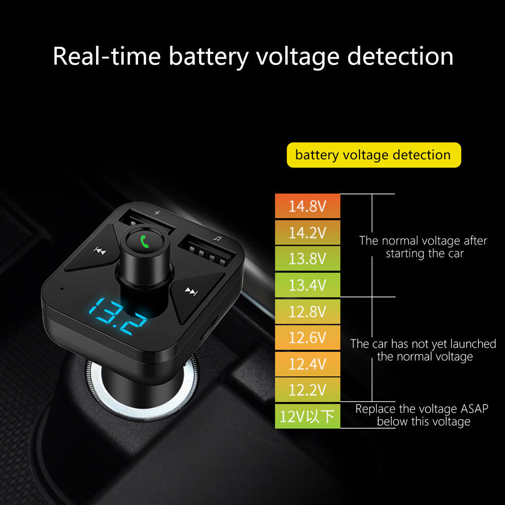Bluetooth Car FM Transmitter Wireless Radio Adapter MP3 Player Plus USB charger Support music format MP3/WMA/APE/FLAC/WAV