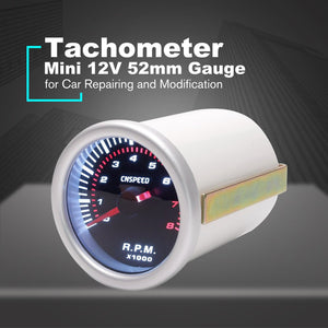 CNSPEED 52mm Electrical Car Engine Speed Pointer Tachometer Tacho Gauge Meter Tester 0~8000 RPM Counter for 4/6/8 Cylinder