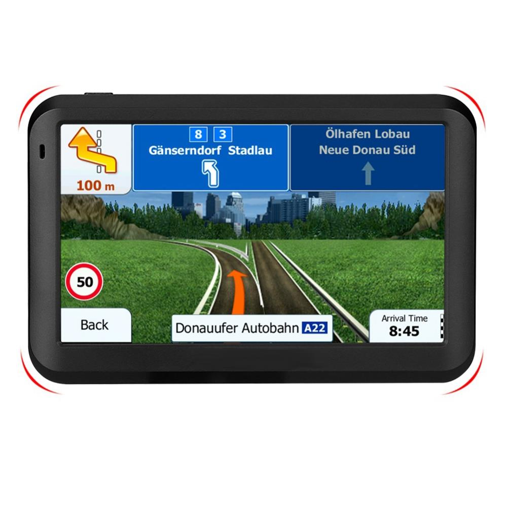 Car 5 Inch Hd Press Screen Gps Navigation Positioning 8Gb Memory +256Mb Running Memory Mp3/Mp4 Player Driving Navigation