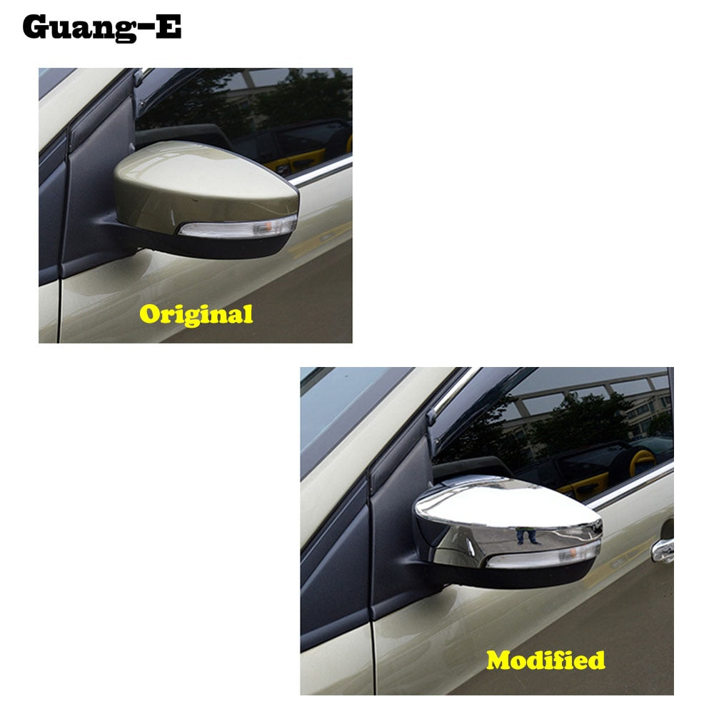 Car ABS chrome decoration stick rear view Rearview Side glass Mirror Cover trim frame 2pcs for Ford Kuga 2013 2014 2015 2016