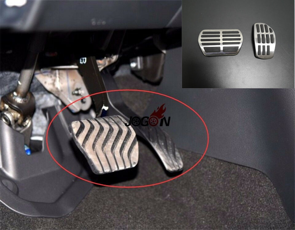 Car Gas Fuel Brake Footrest Pedal Plate Cover For Nissan Qashqai J11 2014-2018 X-Trail Rogue T32 Kicks Altima 2019 AT & MT