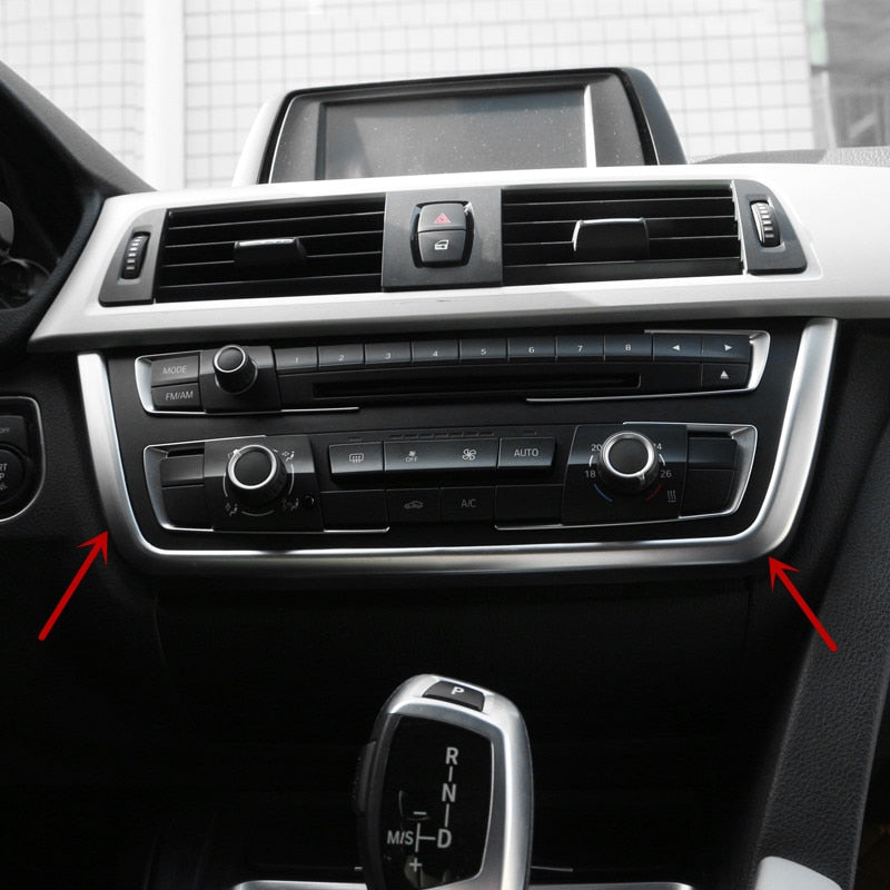 Center Console U type Trim Strip For BMW 3 series f30 316i 320 328 2013-17 Chrome ABS Car styling interior molding
